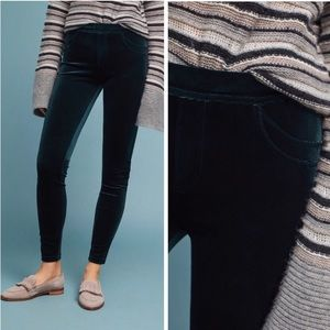 NWT Anthropologie Sanctuary Green Velour Leggings Pants XS